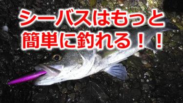 シーバスはもっと簡単にたくさん釣れる!!
