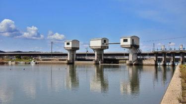 【手貝水門周辺】大橋川シーバスポイントマップ【大橋川北岸エリア】